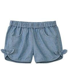 Pretty and rugged in soft flecked chambray, these comfy shorts have a fresh take on Swedish utility for a summer of adventures. Baby Girl Pants, Girls Pants, Frocks For Girls, Little Girl Dresses, Kids Winter Fashion, Kids Fashion, Party Wear Maxi Dresses, Outfits For Teens, Cool Outfits