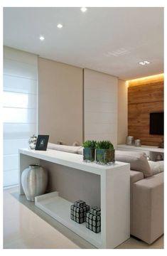Sofa Table Decor, Couch Table, Table Decorations, Sofa Tables, Modern Sofa Table, Living Room Designs, Living Room Decor, Table Behind Couch, Sala Grande