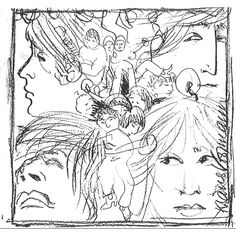 Original Klaus Voorman 1966 early sketch of his cover design for Beatle's album…