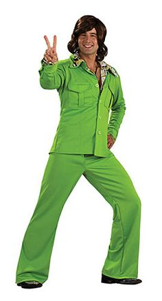 """Vous êtes du genre """"green washing"""" ? Adoptez le costume disco vert 70's !"""