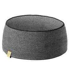 Striped Betty Merino Headband In Charcoal And Oatmeal | FINDRA