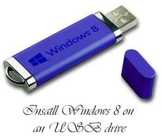 Tutorial on installing Windows 8 on an USB drive. This method can also be used on previous Windows like 7 and Vista.