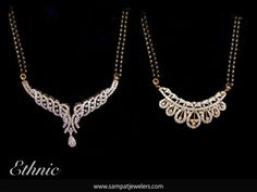 A complete collection of mangalsutra designs for the modern bride. Mangalsutra is the most auspicious jewelry piece a bride will own once she married. Diamond Mangalsutra, Gold Mangalsutra Designs, Gold Jewellery Design, Diamond Jewellery, Gold Pendent, Diamond Pendant, Diamond Necklace Set, Trendy Jewelry, Wedding Jewelry
