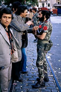Pictures of the First Anniversary of the Carnation Revolution in Lisbon, 1975