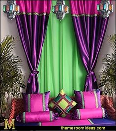 I Dream of Jeannie theme bedrooms - Moroccan style decorating - Jeannie bedroom harem style - Arabian Nights theme bedrooms - bed canopy - Moroccan stencils - I dream of Jeannie bottle