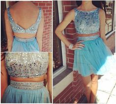 Homecoming Dress, Blue Dress, Two Piece Dress, Beautiful Dress, Dress Blue, Blue Homecoming Dress