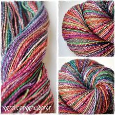 handspun yarn, merino + tencel, dyed with Ashford, navajoply