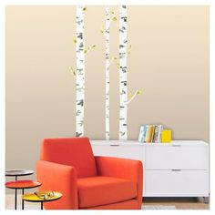 XL Decal Birch Tree : Target