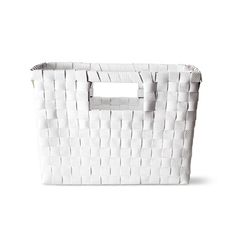 WOVEN BASKET White, 16cm tall. £4 (also comes in blue in the store)