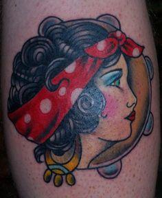 Gypsy Tattoo | Paradise Tattoo Gathering : Tattoos : Traditional Old School : Gypsy ...