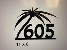 Since we have 3 palm trees in front! Modern Palm Tree House Numbers. Address Sign by GlamorousFindings, $32.00