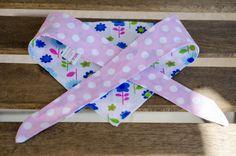 Blue Flowers and Pink Polka Dots Reversible Medium by MilkAndBones, $5.00
