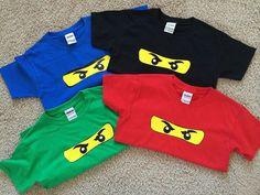 Gepersonaliseerde Ninjago geïnspireerd Tshirts door MonkeyMooseTater