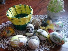 Wielkanocne jajka z koszyczkiem autorstwa Anna Borowczyk