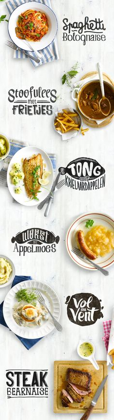 Custom recipe typographyhttps://www.behance.net/gallery/Custom-recipe-typo/14269187 Idea for website menu