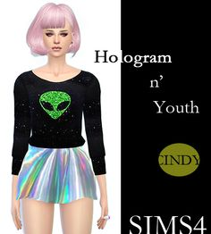 Hologram alien clothes Sims 4