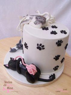 *.* Tarta Lindos Gatitos - Fondant cats cake www.tartasdelunallena.blogspot.com ^^