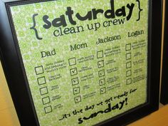 several DIY chores charts; since the charts come from different places, there are also different chores to get ideas for creating your own chores for your kids