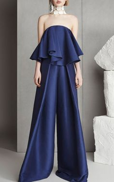 Mallory Ruffle Jumpsuit  by SOLACE LONDON for Preorder on Moda Operandi