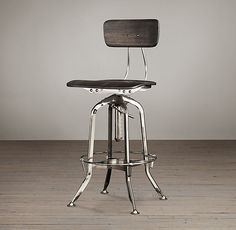 Vintage Toledo Bar Chair Polished Chrome   Bar & Counter Stools   Restoration Hardware