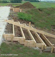 Concrete porch steps