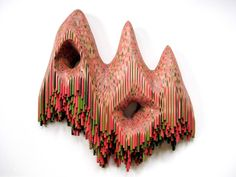 'Formless Worlds Move Through Me' by Lionel Bawden, Made From Coloured Staedtler Pencils, Epoxy, and Incralac