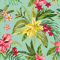 Floral background material