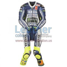 Valentino Rossi Yamaha MotoGP 2013 Leather Suit, Valentino Rossi wore the especially designed leather suit when he fell during the race at Mugello (Italy)