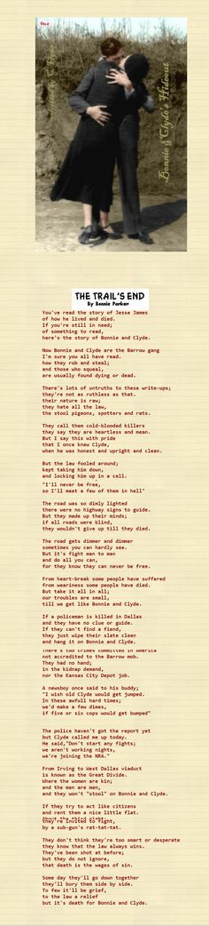 Trails end By Bonnie Parker