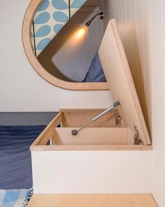 More storage bits with Birch ply lipped edges. Pics by @timhallphoto #campervan #tinyhouse