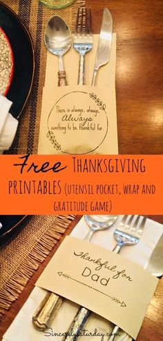 FREE THANKSGIVING DAY PRINTABLES | Sincerely Saturday