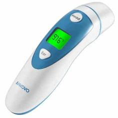 ANKOVO Digital Medical Infrared Forehead and Ear Thermometer for Baby ,Kids and Adults with Fever Indicator CE and FDA Approved Temperature Measurement, Infrared Thermometer, Homeopathy, Low Lights, Medical, Ear, Health, Baby Kids, Salud