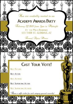 Been wanting to have an Oscars party for years. Maybe this will be my inspiration!