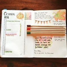 Getting ready for October and felt inspired to take some time out this morning to draw and add a little colour to the month... #bulletjournal #journaling #plannerlove #planneraddict #bujo #bujojunkies #colour #autumn #stationery #plannercommunity #planwithmechallenge
