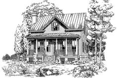 18 Small House Plans: Coosaw River Cottage, Plan #671