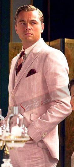 The Great Gatsby Leonardo Dicaprio Pink Suit O Grande Gatsby, Jay Gatsby, Gatsby Style, Gatsby Man, Gatsby Movie, Scott Fitzgerald, The Great Gatsby 2013, Great Gatsby Mens Fashion, Gatsby Costume