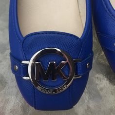 New Michael Kors Shoes: Color Electric Blue!! New Electric Blue Michael Kors shoes. Various sizes available!!! I am listing new items daily. Be sure to check out my closet!! No trades!! Michael Kors Shoes Flats & Loafers