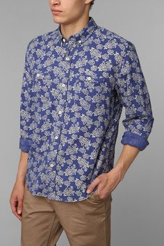 Stapleford Paisley Button-Down Flannel Shirt #urbanoutfitters