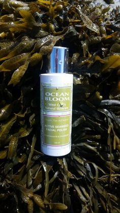 Natural Organic Seaweed Facial Polish - Ocean Bloom - made in Ireland Layers Of Skin, Bright Skin, Mineral Oil, Dead Skin, Seaweed, Pomegranate, Facial, Fragrance, Bloom