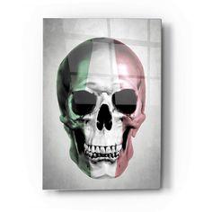 Epic Art 'Italian Skull Grey' by Nicklas Gustafsson, Acrylic Glass Wall Art - 24x36