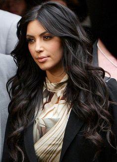 Kim Kardashian perfect hair and makeup