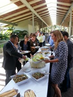 Lunch is served! Everyone digs in on Day 2 of the #IntuitSummit