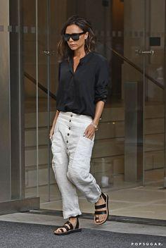 Victoria Beckham's White Pants New York September 2016   POPSUGAR Fashion