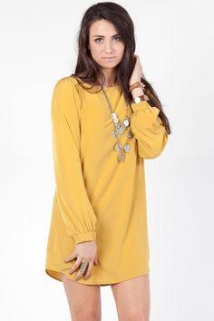 Mustard Yellow Shift Dress