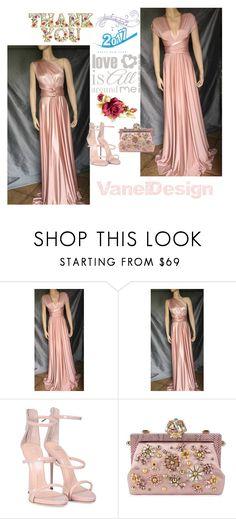 """VanelDesign/Vanya Eston"" by alma-ja ❤ liked on Polyvore featuring Giuseppe Zanotti and Dolce&Gabbana"