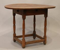 Century Wiliam and Mary Tavern Table New England 1 Board Top Small Size Tavern And Table, William And Mary, Small Tables, 18th Century, New England, Furniture, Board, Home Decor, Small End Tables
