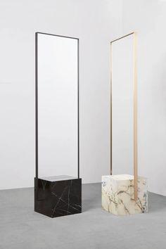 Brass Mirror, Floor Mirror, Mirror Mirror, Mirror House, Sunburst Mirror, Spiegel Design, Salon Interior Design, Standing Mirror, Recycled Rubber