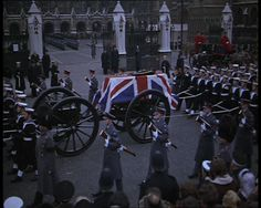 April 2013: There's been some talk about whether Margaret Thatcher deserves a state funeral rather than the ceremonial one she has been given.  The last state funeral of a non-royal was in 1965, for Winston Churchill. British Pathé recorded the occasion -  http://www.britishpathe.com/video/world-in-remembrance