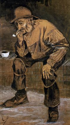 Old Man With A Pipe, 1883 by Vincent van Gogh