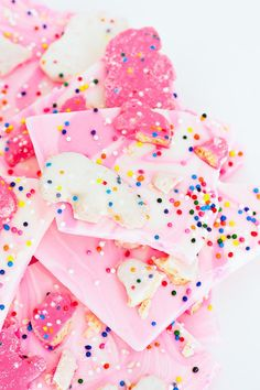 Frosted Animal Cookie bark